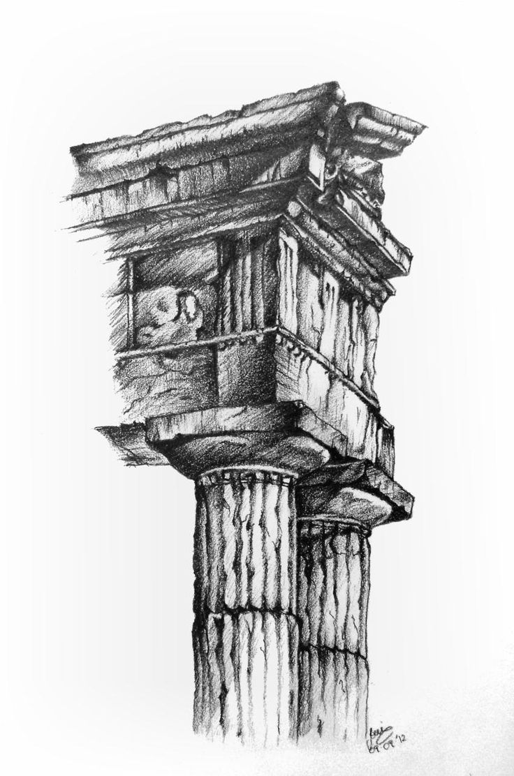 The parthenon the epitome of the doric order - Dedicated To A Friend Who Loves Architecture A Small Present For Him __ Image Of Reference From An Art Book Pencils Greek Architecture Doric Columns