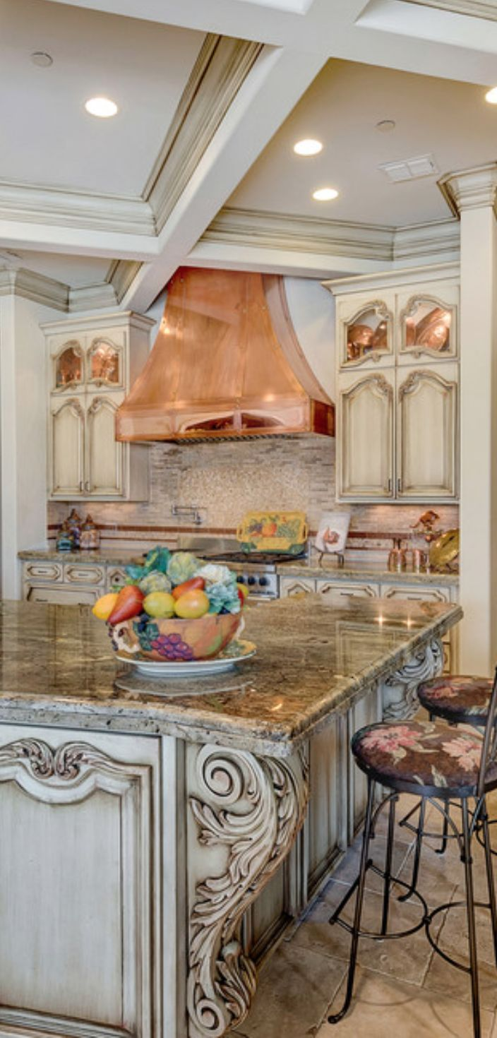 2065 best kitchen backsplash countertops images on pinterest for Italian kitchen cabinets