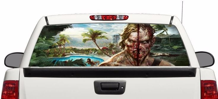Zombie death rear window graphics Decal Sticker 50/50 view 66''x22''Truck SUV #Perforated
