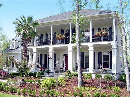164 best plantation houses images on pinterest for Luxury plantation home plans