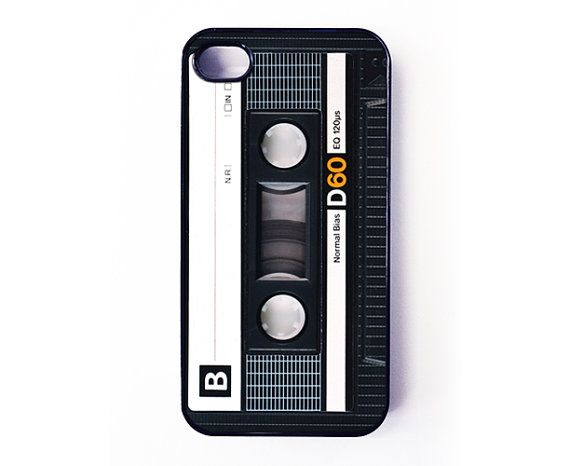 iPhone 4 Case  Retro Audio Cassette Tape par caseosaurus sur Etsy, $16,99