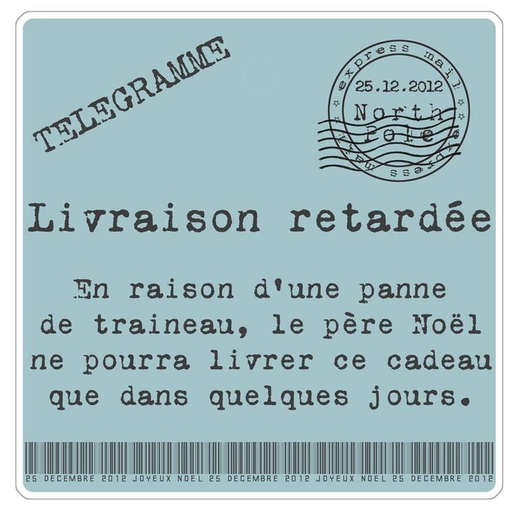 Etiquette : Livraison Retardée!  Made by Ozen