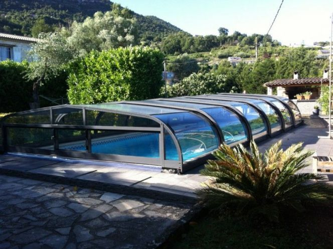 46 best Abris de piscine images on Pinterest Environment, Pool - prix veranda piscine couverte