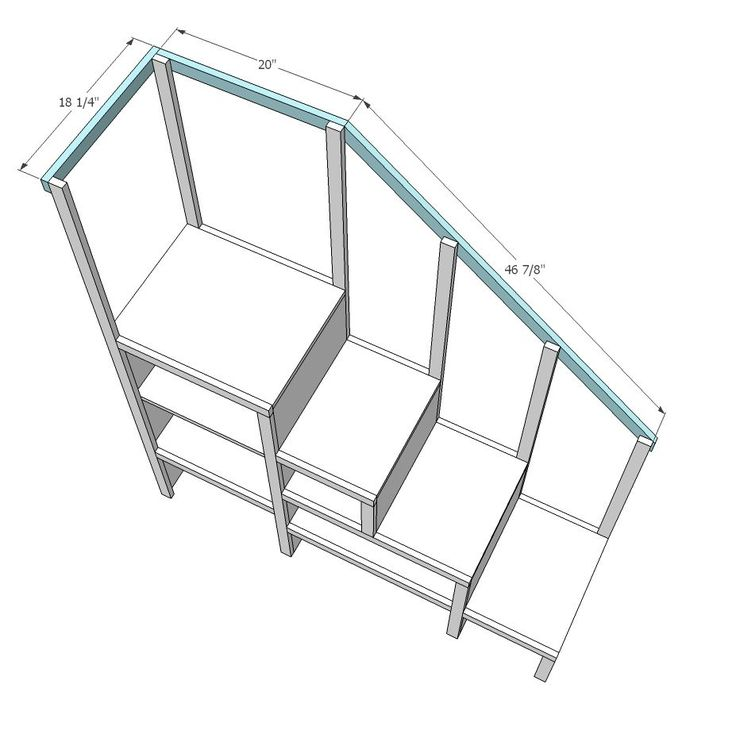 Ana White | Build a Sweet Pea Garden Bunk Bed Storage Stairs | Free and Easy DIY Project and Furniture Plans.... Stairs with storage