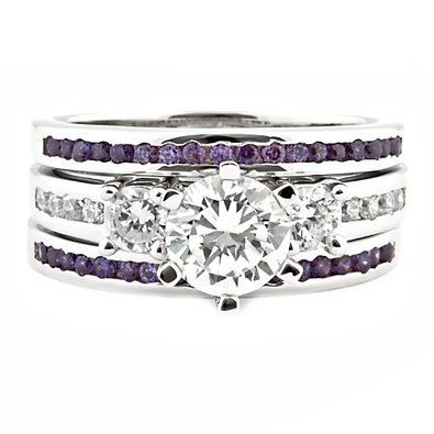 amethyst wedding rings - Google Search