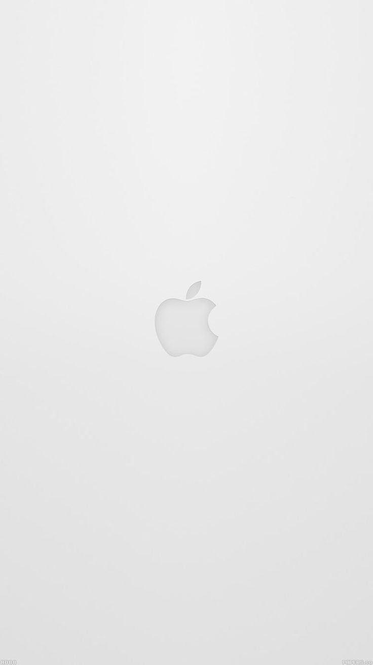 APPLE LOGO WHITE IOS8 IPHONE6 WALLPAPER HD IPHONE