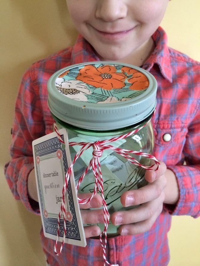 DIY: 'dinner table question cards' jar http://lynmariescoffee.com/