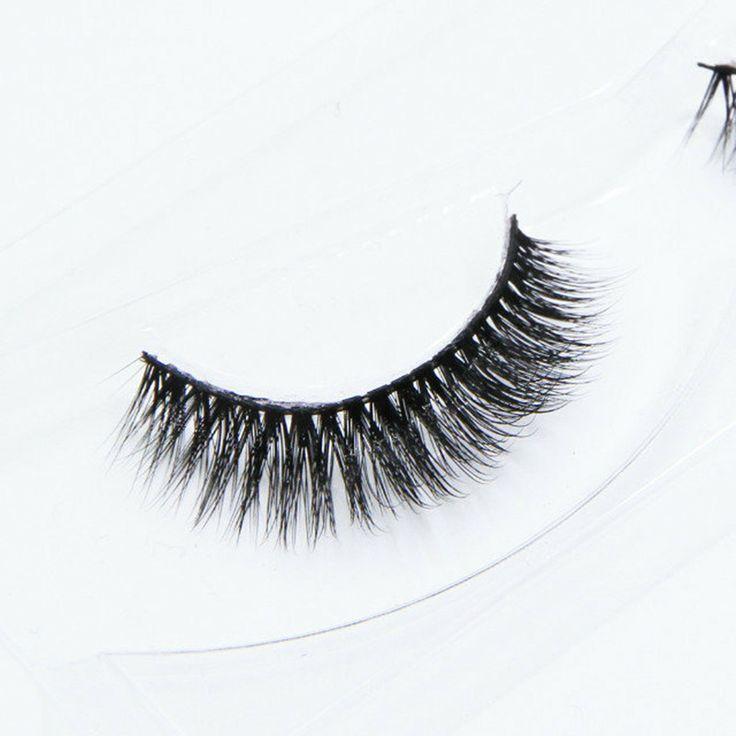 100% handmade real silk false eyelash 3D strip silk lashes thick fake faux eyelashes Makeup beauty cheap price #Affiliate