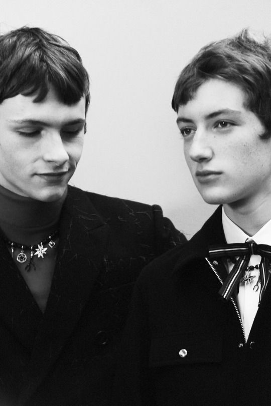 Maryan Lukaszczyk & Theo Urtubey by Elise Toïdé - Backstage at Dior Homme FW16