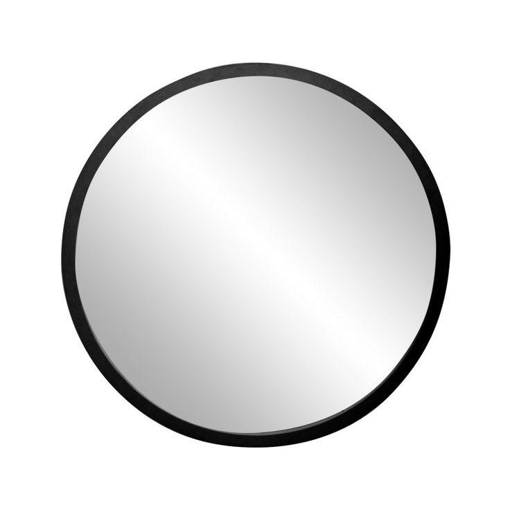 Brandtworks Matte Black Round Wall Mirror Sround2