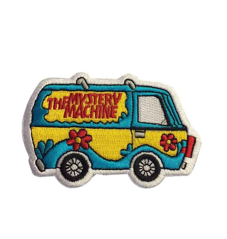 """Scooby Doo The Mystery Machine Van Colorful 3.25"""" Wide Embroidered Iron On Patch #SA"""