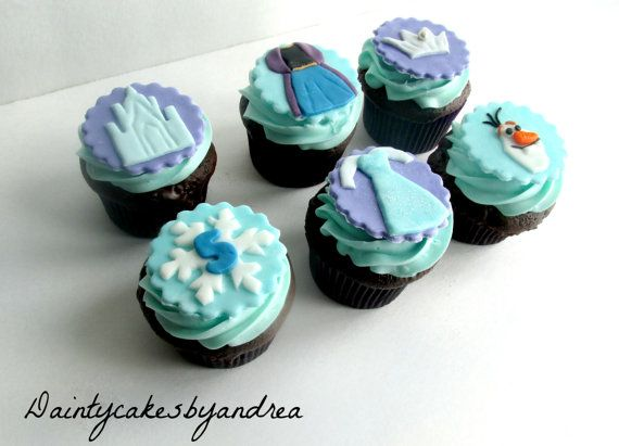 24 Frozen Fondant Cupcake toppers! Perfect for a Disney Frozen Themed Birthday Party!