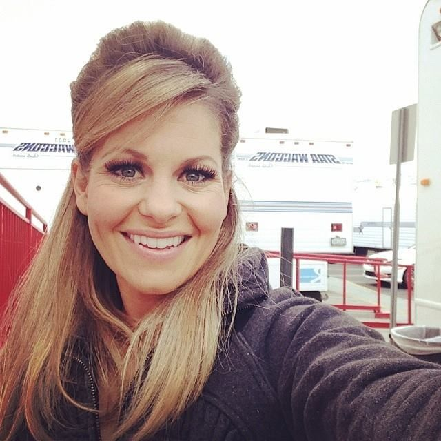 Candace Cameron Bure DWTS hairdo (maybe a good wedding-guest hairdo!)