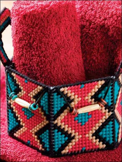 Plastic Canvas - Accessories - Botanical Display - Southwestern Basket - #FP00531