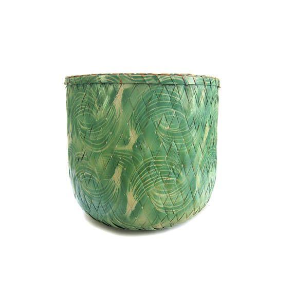 Shafford Bamboo Basket  Handmade Tropical Basket or Planter