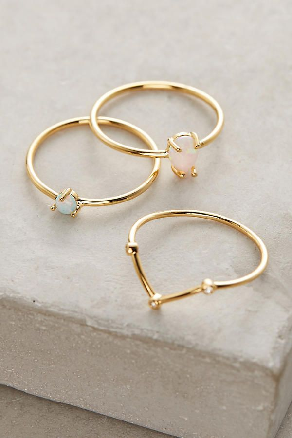 Opalescent Stacking Rings| 40 Christmas Holiday Gift Ideas You Won't Want To Miss