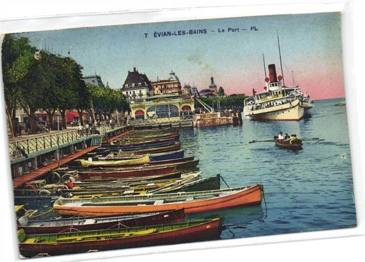 urbitrend-collectables - 1 carte postale France DEP 74 Haute Savoie Evian Le Port - rowing boat, €1.69