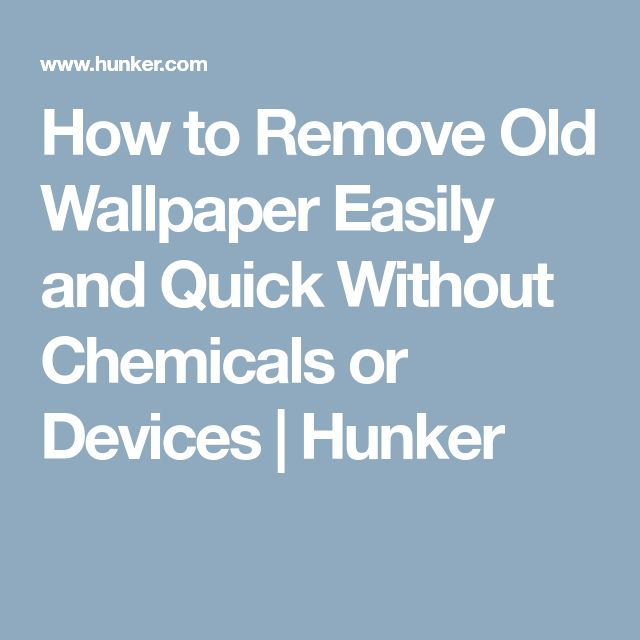 How to Remove Old Wallpaper Easily and Quick Without Chemicals or Devices   Hunker