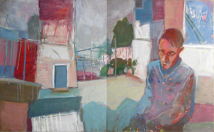 Malarstwo Edward Umiński uminski-art.pl Wychodząc   olej