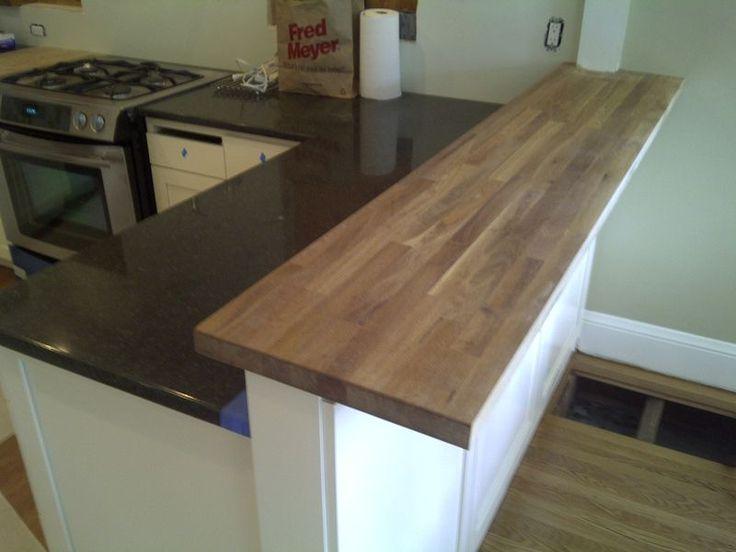 Kitchen Inspiration Butcher Block Bar Height Counter