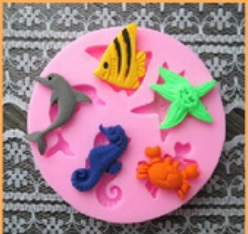 Sea Animal Icing Fondant Mold - Beautiful ocean themed decorations #mold #ocean #fondant $5.50