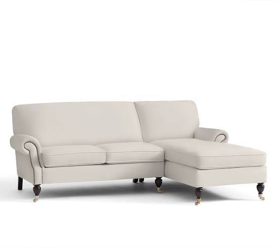 Brooklyn Upholstered 2-Piece Chaise Sectional | Pottery Barn $3,000