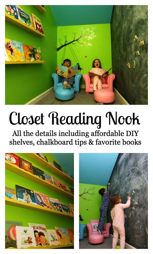 Reading nook ideas- under stairs