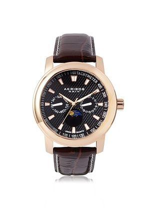 84% OFF Akribos XXIV Men's AK573RG Brown/Black Stainless Steel Watch