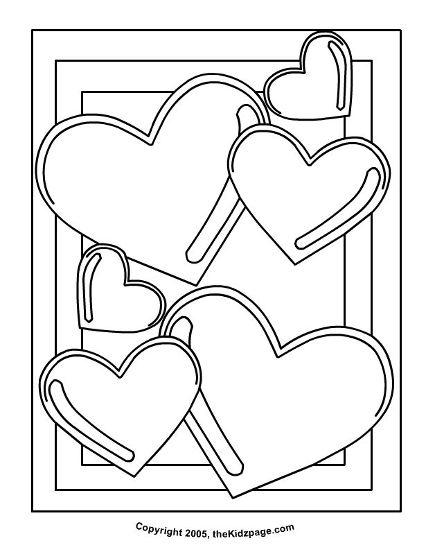Valentine's Day Pictures to Color | Valentine's Day Balloon Hearts - Free Coloring Pages for Kids ...