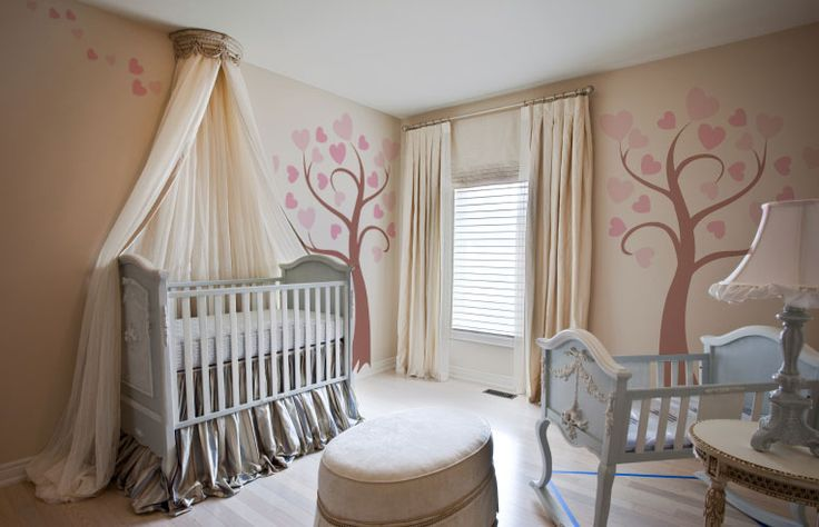 Love the canopy like thing over the crib baby ideas for Above crib decoration ideas