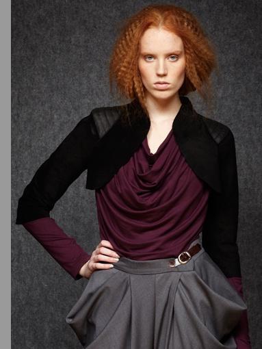 Fall - Winter 2012 | Collections | Jude  Leather Bolero - 5222