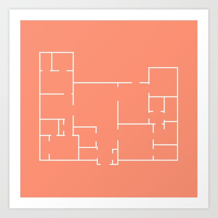 Minimalist Floor Plan Art Print Drawing On The Mysteriousness Of Strange Houses All Of My Floor Plan Art Prints Let You Wande Art Prints Line Art How To Plan