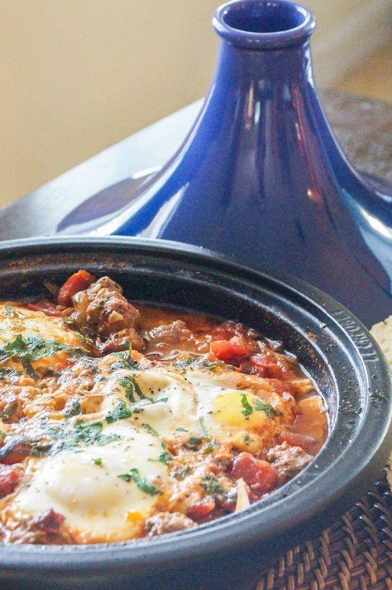 Kefta Mkaouara (Moroccan Meatball and Egg Tagine)