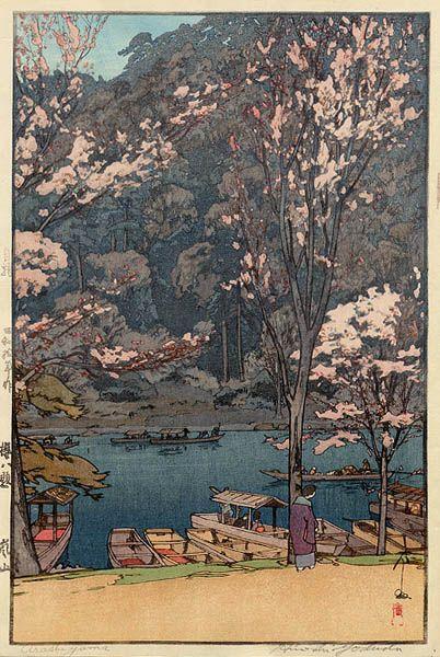 pretty much anything by this man too hard to pick just one...Arashiyama  by Hiroshi Yoshida, 1935