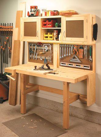 Fold-Down Workstation | Woodsmith Plans