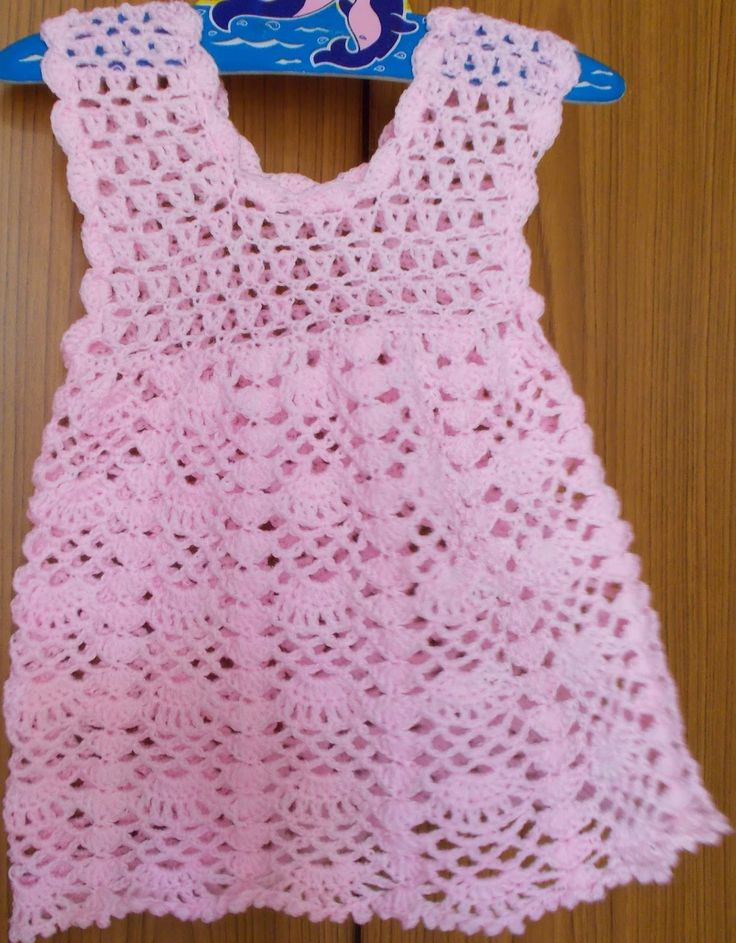 Sweet Nothings Crochet: BEAUTIFULLY LACY DRESS.   For baby.   Adaptable.   Dress.  Possible pinafore