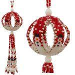 ThreadABead Snowman Parade Ball Christmas Ornament Pattern $8.00