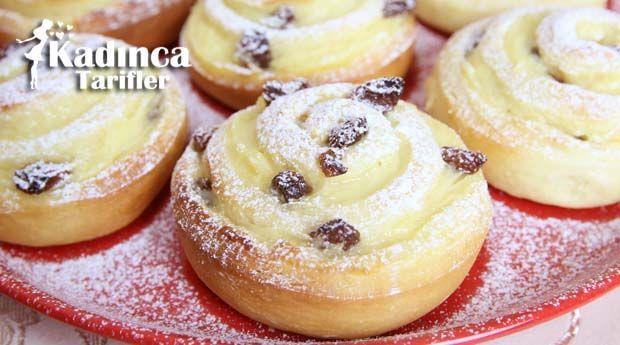 Üzümlü Kremalı Çörek Tarifi nasıl yapılır? Üzümlü Kremalı Çörek Tarifi'nin malzemeleri, resimli anlatımı ve yapılışı için tıklayın. Yazar: Sümeyra Temel