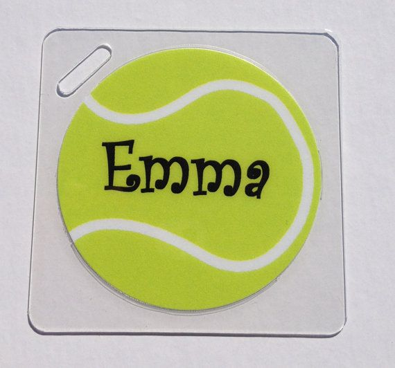 Tennis Bag Tag  but would also make a good design for a cake.