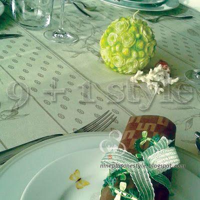 Apparecchia la tavola… in verde e marrone – Table setting in green and brown