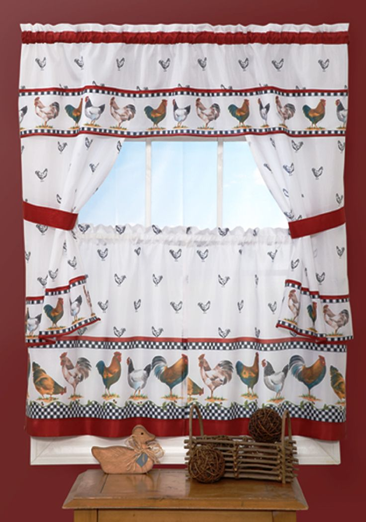 Top Of The Morning Cottege Kitchen Curtain Set