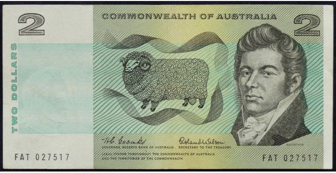 1966 Australia Two Dollars - FAT From the first year of decimal note production. Fantastic condition note. A very nice investment note indeed. Please see pictures. - See more at: https://www.noteworthy-collectibles.com/australian-banknotes/paper-decimal-banknotes/two-dollars-paper/1966-australia-two-dollars---fat#sthash.OKa7yldc.dpuf