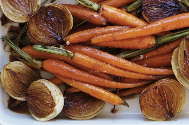 Carmalized Roasted Carrots and Onions
