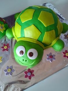 www.Planet-Box.de Kindergeburtstag - Kuchen Ideen für die Kinderparty: Schildkröte
