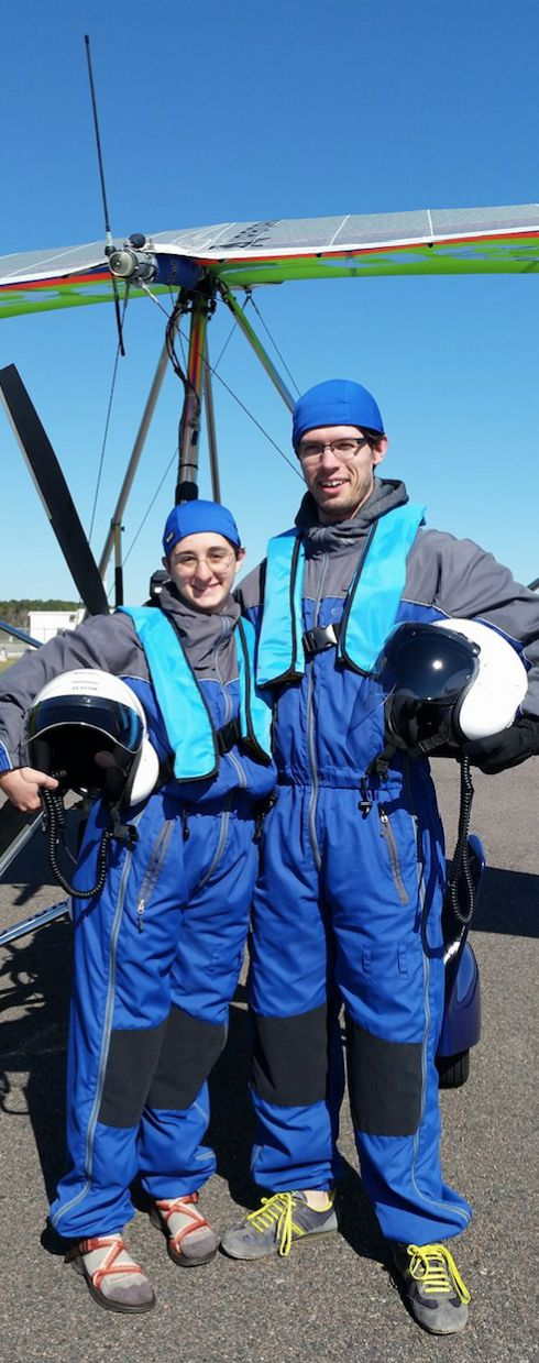 """Happy together""... Angela DeCarlis with Daniel James Ley! Give us a call today for your aerial adventure: 904-430-3800  ----------------------  #florida #tourism #fun #thrills #bucketlist #flying"