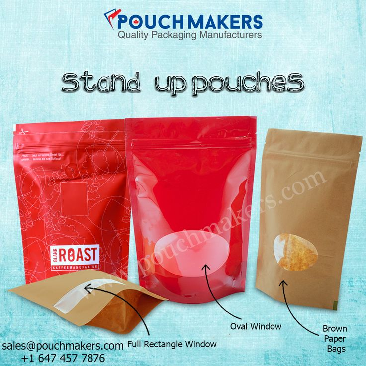 Our Stand Up Pouches provide an attractive and enticing appearance due to their stable standing capabilities on the shelves.
