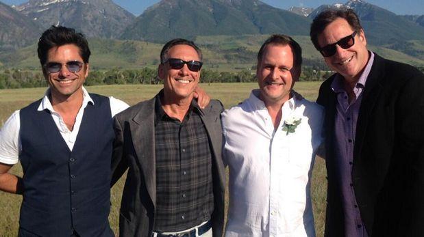 """Elenco de """"Tres por tres"""" se reunió en la boda del tío Joey"""