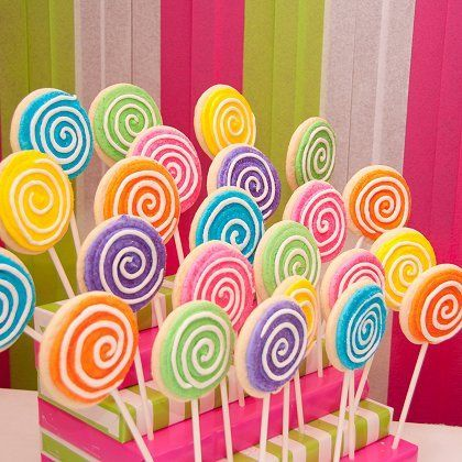 Lovely Lollipop Cookies