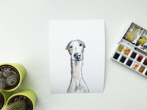 Greyhound painting Galgo art Galgo painting Greyhound art