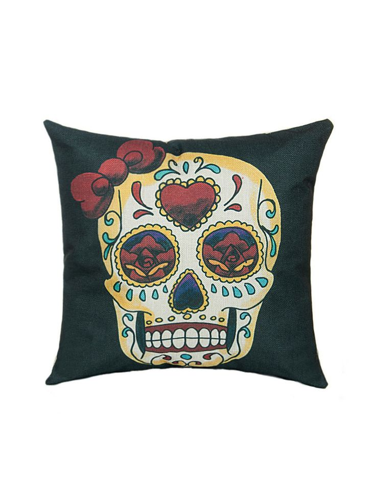 Shop Gothic Black Skull And Rose Linen Pillow Cover online. SheIn offers Gothic Black Skull And Rose Linen Pillow Cover & more to fit your fashionable needs.